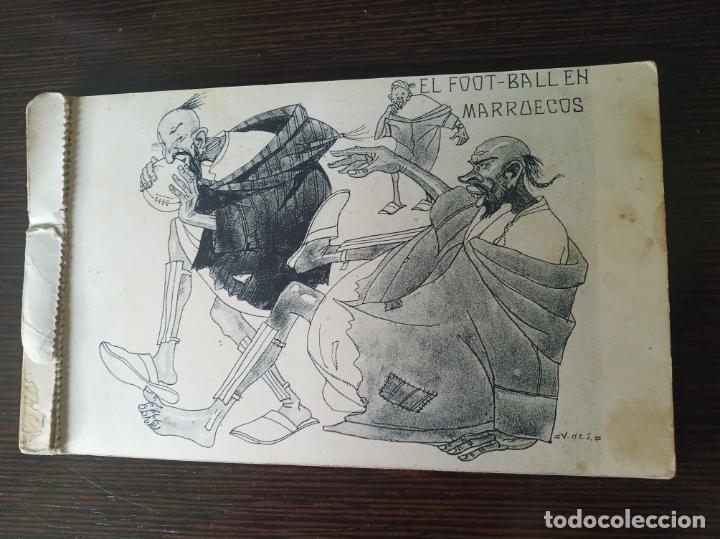 POSTAL SIN CIRCULAR. EL FOOT-BALL EN MARRUECOS. DIBUJO V DE S. FOTOTIPIA DE HAUSER Y MENET. MADRID. (Postales - Dibujos y Caricaturas)