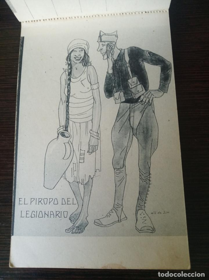 POSTAL SIN CIRCULAR. EL PIROPO DEL LEGIONARIO. DIBUJO V DE S. FOTOTIPIA DE HAUSER Y MENET. MADRID. (Postales - Dibujos y Caricaturas)
