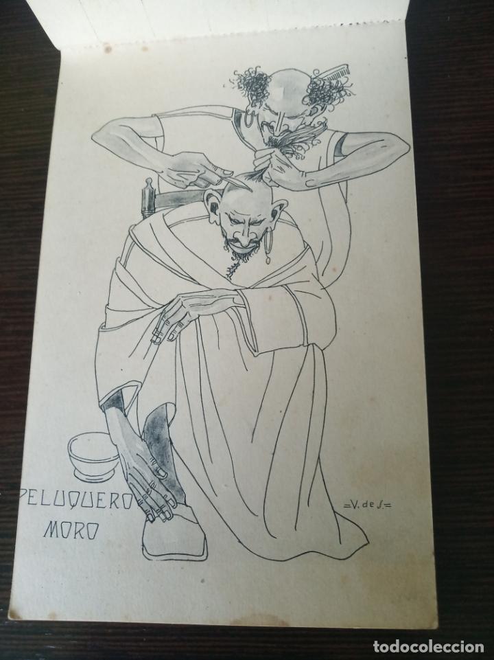 POSTAL SIN CIRCULAR. PELUQUERO MORO. DIBUJO V DE S. FOTOTIPIA DE HAUSER Y MENET. MADRID. (Postales - Dibujos y Caricaturas)