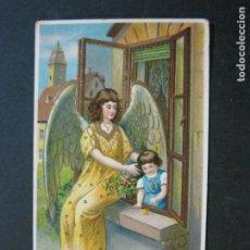 Postales: ANGEL CON NIÑA-POSTAL ANTIGUA-VER FOTOS-(73.730). Lote 216379733