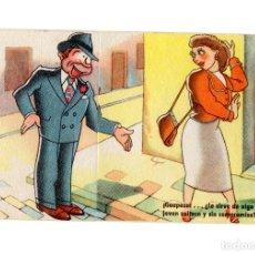 Postales: POSTAL HUMORISTICA. DESPLEGLABLE.. Lote 217028743
