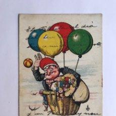 Postales: BARCELONA. POSTAL EDICIONES THOMAS, DIBUJOS Y CARICATURAS EL YAYO AMB BARRETINA.. (H.1910?). Lote 218195647