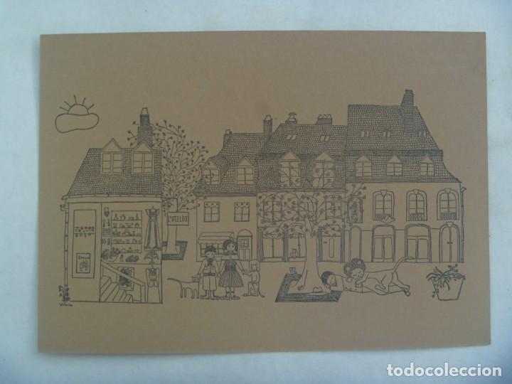POSTAL CON DIBUJO DE VICTORIA TERUEL . LUXEMBURGO (Postales - Dibujos y Caricaturas)