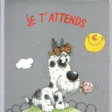 Cartoline: POSTAL FELICITACION *GIORDANO* - PERRITO CON LA FLOR - 1989. Lote 219352215