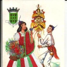 Postales: POSTAL MADEIRA *TRAJE REGIONAL BORDADO CON HILO*- FUNCHAL (PORTUGAL). Lote 219353615