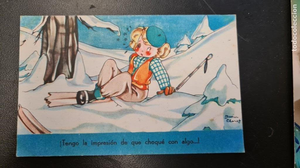 POSTAL. ILUSTRACIÓN MARÍA CLARES. COLECCIÓN MARI-PEPA. SERIE D Nº 10 (Postales - Dibujos y Caricaturas)