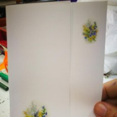 Postales: POSTAL BOUQUET DE FLORES RUTH CHRISTENSEN PINTORA CON LA BOCA S/C. Lote 220970928