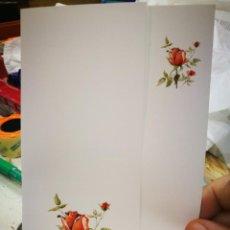 Postales: POSTAL ROSA ROJA ARNAUD DUBARRE PINTOR CON LA BOCA S/C. Lote 220971818