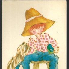 Cartoline: POSTAL NIÑO CON EL PERRITO Y EL PAJARITO - EDIC. PICARD, PARIS. Lote 220974873