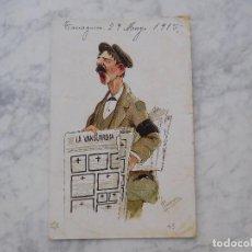 Postales: POSTAL REPARTIDOR DE LA VANGUARDIA. CIRCULADA AÑO 1915. Lote 221270031