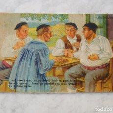 Postales: POSTAL DIBUJO DE JOSÉ ARRUE. VASCOS. SIN CIRCULAR FHER. Lote 221271460