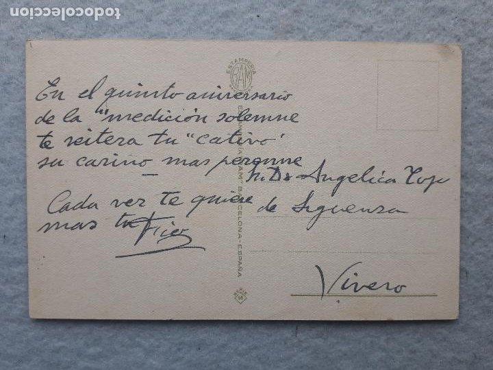 Postales: Postal antigua con chiste. Firmada por Cesc. Escrita. - Foto 2 - 221693010
