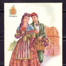 Postales: POSTAL ARTE TARRAGONA TRAJE TIPICO Y ESCUDO . B. CREACIONES FREIXAS. Lote 221950816