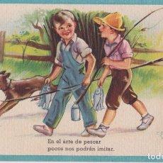 Postales: ILUSTRADOR: ZSOLT, EL ARTE DE PESCAR - EDITA CMB SERIE Nº54 - ESCRITA. Lote 222370912