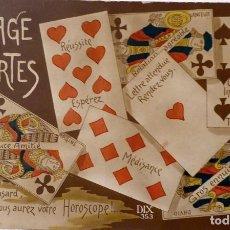Postales: P-11664. LANGAGE DES CARTES. HOROSCOPE. FRANCIA. POSTAL DIX, NÚMERO 353. NO CIRCULADA.. Lote 222552915
