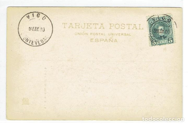 Postales: LA SARDANA, CATALUNYA, 570 HAUSER Y MENET, DE BLACO Y NEGRO, RE, S/DV, CIRCULADA CON SU SELLO - Foto 2 - 222706431