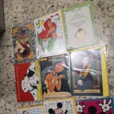 Postales: 9 TARJETAS FELICITACIONES SERIE DIBUJOS ANIMADOS. Lote 224663672