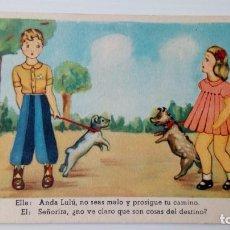 Postales: P135 POSTAL DIBUJOS 3 ANDA LULÚ, NO SEAS MALO - ILUSTRADOR MORAN. Lote 229344225