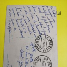 Postales: POSTAL BORDADA CIRCULADA JUNQUERA COMERCIAL PRAT. Lote 234930000