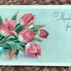 Postales: MUCHAS FELICIDADES - RAMO DE FLORES. Lote 238189385