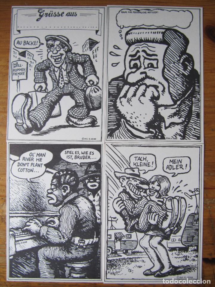 Postales: ROBERT CRUMB - COLECCION DE 16 POSTALES EN BLANCO Y NEGRO - 1975 FRANKFURT - Foto 2 - 157896612