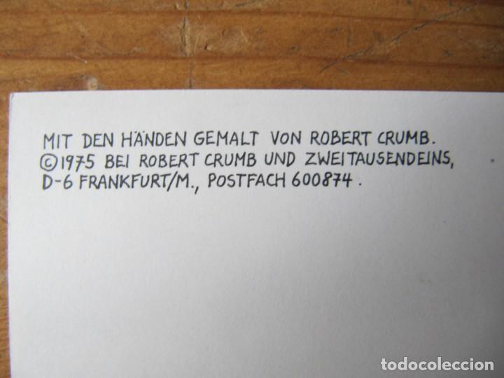 Postales: ROBERT CRUMB - COLECCION DE 16 POSTALES EN BLANCO Y NEGRO - 1975 FRANKFURT - Foto 7 - 157896612