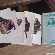 Postales: COLECCIÓN CARPETA CON 6 POSTALES. NORMA. LA GIOCONDA DE GIN. REF. UR EST. Lote 240672105