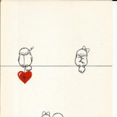 Cartoline: POSTAL PAJAROS ENAMORADOS *LONELY BIRDS* - ITALIA. Lote 241425665