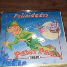 Postales: TARJETA POSTAL + SOBRE PARA FELICITAR PETER PAN, NUEVA Y SIN ESTRENAR. Lote 243585270