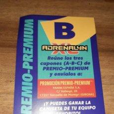 Postales: ADRENALYN XL, TEMPORADA 2020/21, EDITORIAL PANINI, PREMIO-PREMIUM LETRA B. Lote 243589900