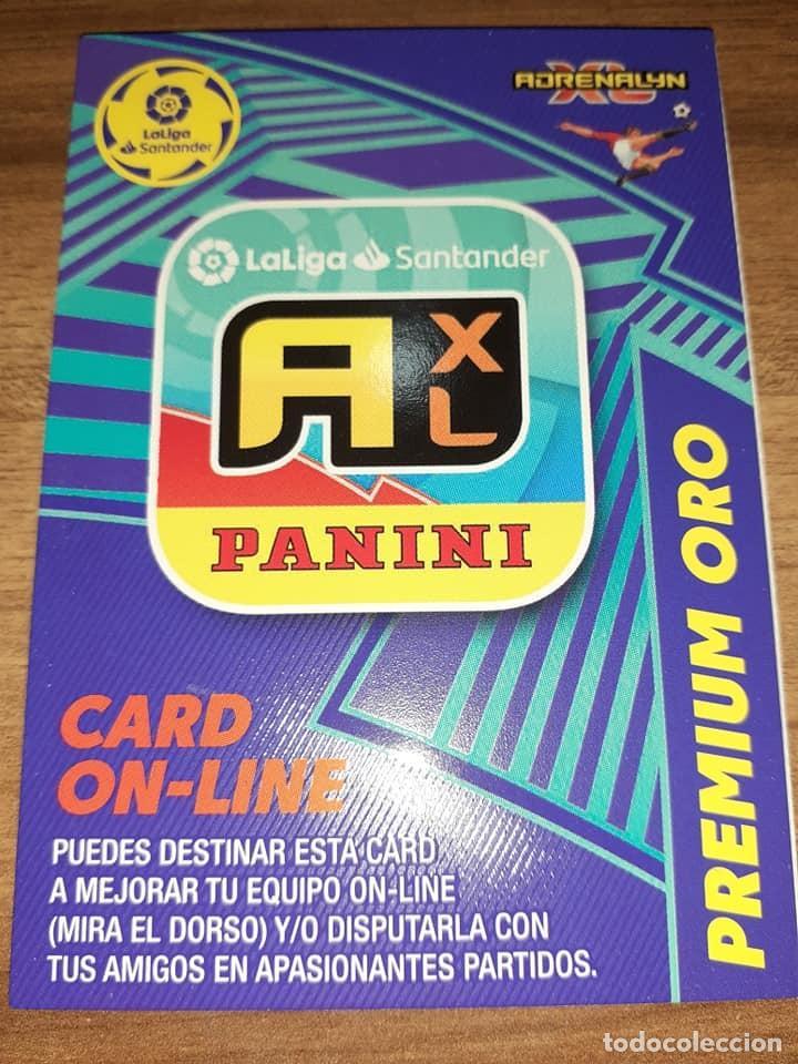ADRENALYN XL, TEMPORADA 2020/21, EDITORIAL PANINI,PREMIO-PREMIUM LETRA A XL CARD ON LINE PREMIUM ORO (Postales - Dibujos y Caricaturas)