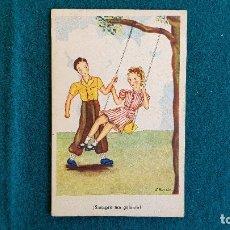 Postales: POSTAL DIBUJO E. MORAN - SIEMPRE TAN GALANTE. Lote 243894360