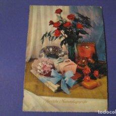 Postales: POSTAL DE FELIZ DIA DEL SANTO. (NOMBRE). ED. J.L.M. ESCRITA. 1963.. Lote 243901370
