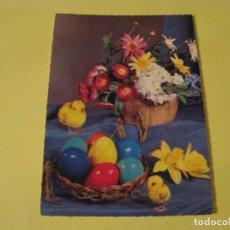 Postales: POSTAL DE ALEMANIA. FELICES PASCUAS. CIRCULADA 1970.. Lote 243905845