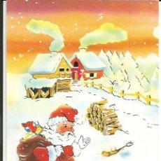 Postales: POSTAL NAVIDAD * PAPA NOEL CARGADO DE REGALOS* - 1989. Lote 244439775