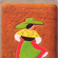 Postales: MUJER, EDITADA POR ROMMER & JONAS, CIRCULADA EN 1906 (VER DORSO). Lote 244521260