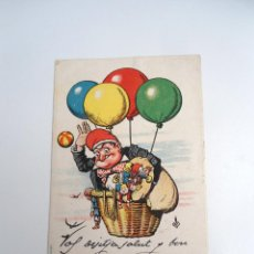 Postales: POSTAL CU-CUT EN GLOBO - DIRIGIDA A BROCKTON MASSACHUSETTS (1904) - ED. THOMAS BARCELONA. Lote 244605510