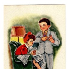"""Postales: EDICIONES TRIO- SERIE 74 - """"NO ESCOJÁIS NUNCA UN PROGRAMA PORQUE SE OS IRÁ LA GANA"""" 133X83 - PLANCHA. Lote 245357365"""