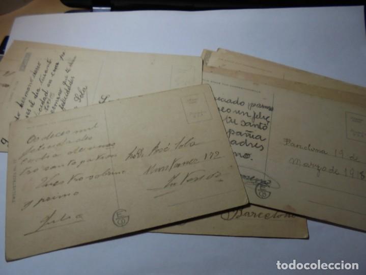 Postales: magnificas 8 postales antiguas de principios de 1900 todas dela misma editorial - Foto 9 - 246319550