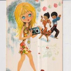 Cartoline: POSTAL DE DIBUJOS DE ANGELES DE LA CASA BV SIN ESCRIBIR. Lote 246488415