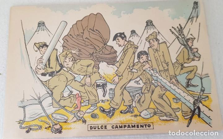 DULCE CAMPAMENTO MILITAR SATIRICA (Postales - Dibujos y Caricaturas)