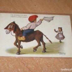Postales: POSTAL DE I SA PROMESA S´EL MIRA I DIENT-LI ! ADEU ! SOSPIRA.. Lote 248786635