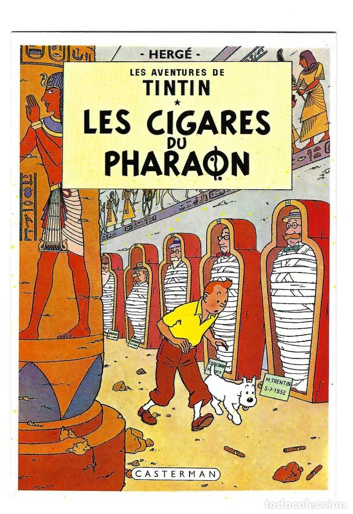 POSTAL- LES AVENTURES DE TINTIN. LES CIGARES DU PHARAON. HERGE. CASTERMAN. ARNO- SIN CIRCULAR (Postales - Dibujos y Caricaturas)