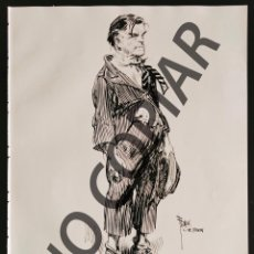 Postales: ILUSTRACIÓN AUTORRETRATO DE FRANK GODWIN. ILUSTRACIÓN EXTRAÍDA LIBRO CONMEMORATIVO. USA. AÑO 1950.. Lote 254177790