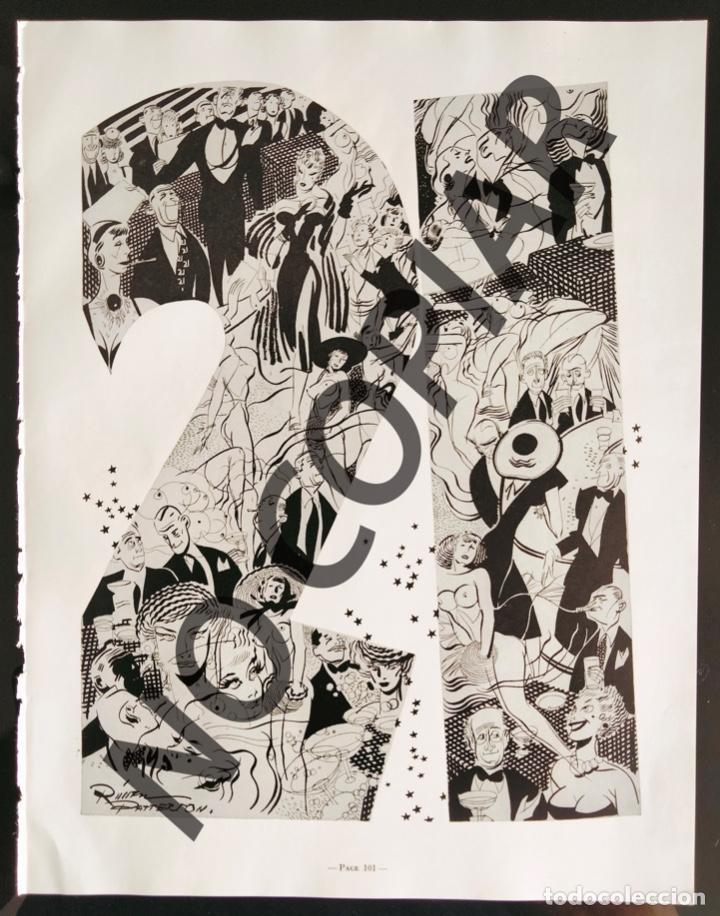 ILUSTRACIÓN DE R. PATTERSON. ILUSTRACIÓN EXTRAÍDA LIBRO CONMEMORATIVO. USA. AÑO 1950. (Postales - Dibujos y Caricaturas)