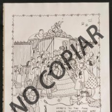 Postales: ILUSTRACIÓN CÓMICA DE BETTY BETZ. ILUSTRACIÓN EXTRAÍDA LIBRO CONMEMORATIVO. USA. AÑO 1950.. Lote 254179220