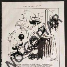 Postales: ILUSTRACIÓN CÓMICA DE RUBE GOLDBERG. ILUSTRACIÓN EXTRAÍDA LIBRO CONMEMORATIVO. USA. AÑO 1950.. Lote 254180075