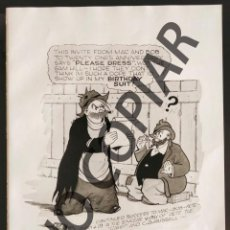 Postales: ILUSTRACIÓN CÓMICA DE CLARENCE D. RUSSELL. ILUSTRACIÓN EXTRAÍDA LIBRO CONMEMORATIVO. USA. AÑO 1950.. Lote 254180225