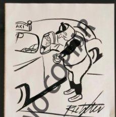 Postales: ILUSTRACIÓN CÓMICA DE MISCHA RICHTER. ILUSTRACIÓN EXTRAÍDA LIBRO CONMEMORATIVO. USA. AÑO 1950.. Lote 254180625
