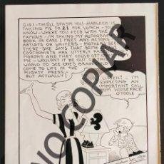 Postales: ILUSTRACIÓN CÓMICA DE MUSH STEBBINS. ILUSTRACIÓN EXTRAÍDA LIBRO CONMEMORATIVO. USA. AÑO 1950.. Lote 254180780